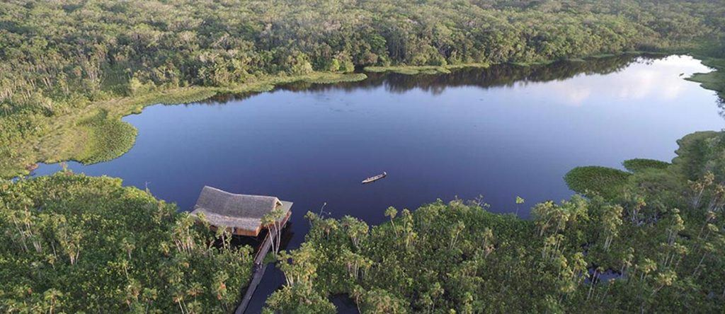 Sacha Lodge or La Selva Lodge in the Amazon rainforest, Ecuador
