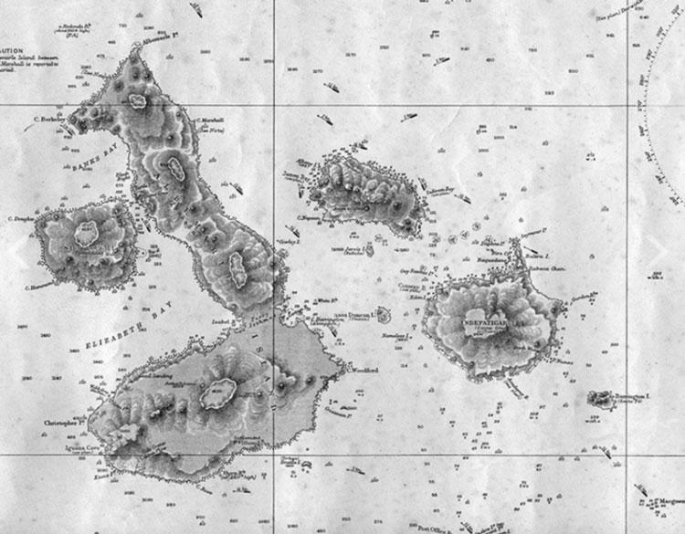 Old Galapagos Islands Maps Galapagos Safari Camp