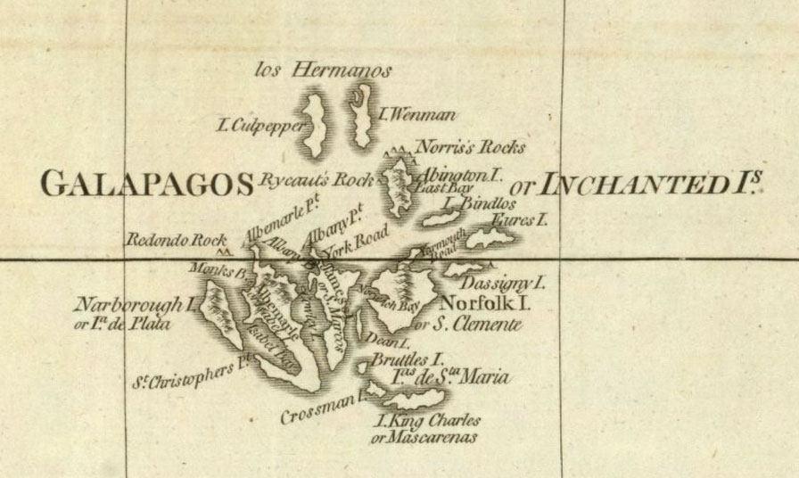 South America Map Galapagos Islands.Galapagos Safari Camp Blog Archive Early Maps Of The Galapagos