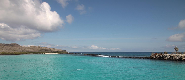 Galapagos hiking tours. Walking on Santa Fe